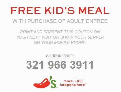 Stop by Chili's Grill & Bar and kids eat free with the purchase of an adult entrée. It's something the whole family can get excited about! weziqaze.ga