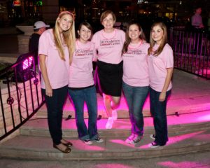 Helping plan a Breast Cancer Awareness event for my client MD Anderson when I worked at the ad agency.
